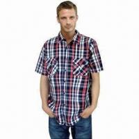 Buy cheap 100% Cotton Plaid Men's Casual Shirt from wholesalers