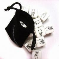 Quality Acrylic dice set with printing for sale