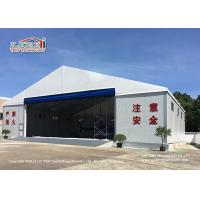 China Flame Retardant Aircraft Hangar Tent with Big Rolling Door for Hangar and Helicopter on sale