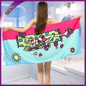 Quality hot sale printed microfiber custom cartoon beach towel for sale