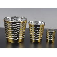 Best Short Jar Candle Holders For Tea Lights , Glass Tea Candle Holders wholesale