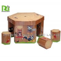 Buy cheap Kids Corrugated Cardboard Furniture Folding Paper Table And Chair from wholesalers
