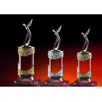 China Gross Champion / Second / Third Reward Cup Golf Trophies For Talented Golfers on sale