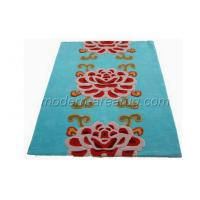 Best Modern Sofa Area Rugs, Blue Acrylic Floral Pattern Area Rug For Living Room wholesale