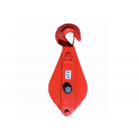 China 3.2 Ton Hook Type Wire Rope Snatch Pulley Block For Rope Lifting for sale