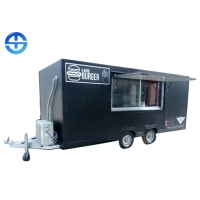 China FRP 2.2m SS201 Double Layer Steel Plate Mobile Food Trailer for sale