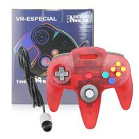 Quality Classic Wired N64 Game Controller Gamepad Joystick Crystal Red Color Plastic Material for sale