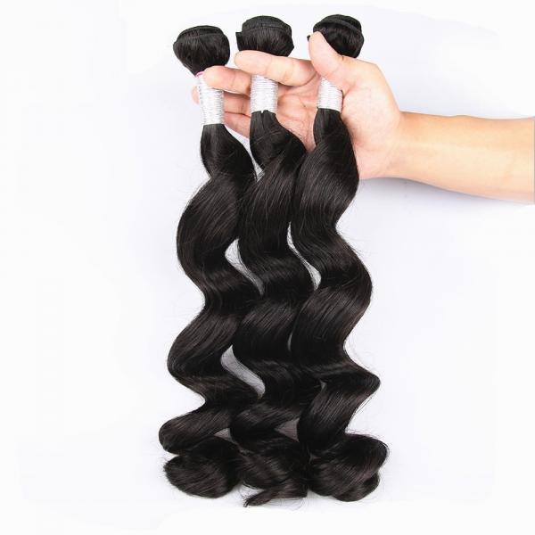 Buy Unprocessed Virgin Human Hair Bundles Loose Deep Wave Human Hair Weave For Black Woman at wholesale prices