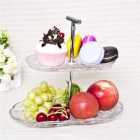 China Two tier cake plate decorative glass cake cupcake stand wholesale on sale