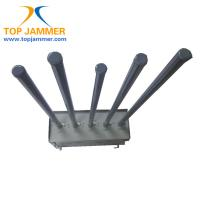 Quality 5 Bands 75W High Power Mobile Signal Jammer Blocker Isolator GSM 3G Wifi Fiberglass Ant. for sale