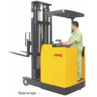 Quality Stand Up High Lift Reach Truck Forklift 1 Ton Low Noise Max Lift Height 6.2m for sale