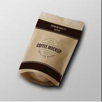Quality China manufacturer high quality flat bottom plastic foil coffee bag with valve coffee beans bag for sale