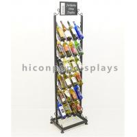 Best 24 Bottle Wine Display Tower / Retail Shop Metal Wire Whiskey Rack 6 - Layer wholesale