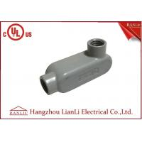 Quality UL Standard PVC Coated Aluminum LL Conduit Body With Screws , Gray color for sale