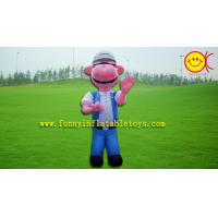 Best Nylon Inflatable Advertising Dog , Kids PVC Inflatable Christmas Decorations wholesale