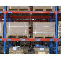 China Q235B Steel Heavy Duty Shelf Racks Standard Warehouse Equipment Blue / Orange Color on sale