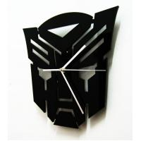Quality SH-11 Square Black Fashion Mask Design Contemporary Art Acrylic Wall Clocks for sale