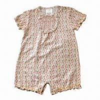 Quality Baby Rompers with Short Sleeves, Made of 200g 100% Cotton for sale