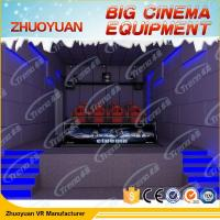 Quality Shooting Game Simulator 7D Movie Theater 12 Seater With Electric / Back Poking for sale