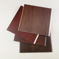 China Dark Wooden Color PVC Wall Panels , Pvc Wall Cladding For Hotel Or Home on sale