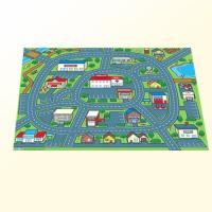 Best Custom Pop Dispaly Foldable City Landscape Printed Carpet Kids Play Rug 1.8 m X 1.5m wholesale