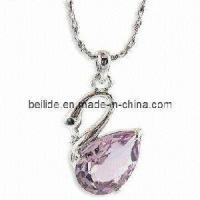 Quality Crystal Alloy Silver Jewelry with Swan Design for sale