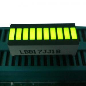 China Yellow 10 LED Light Bar , Big 10 Segment Led Display 25.4 x 10.1 x 7.9mm on sale