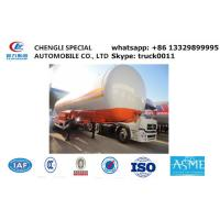 China factory sale 17tons-20tons bulk road transported lpg gas storage tank, best price ASME 20tons lpg  gas tank semitrailer on sale