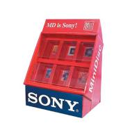 Best Red retail counter Corrugated Cardboard Display case boxes for sony showcased wholesale