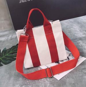 Quality Cotton Creative Eco-friendly Color Contrast Shoulder With Zip Custom 16 Oz Canvas Bag for sale