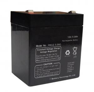 Quality Black Sealed Lead Acid Battery 12v 5ah / Rechargeable Sealed Lead Acid Battery 12v for sale