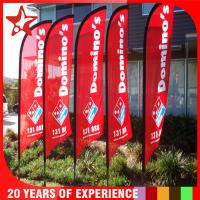 China Indoor / Outside Advertising Banner Flags With Elastic / 600D Oxford Fabric Pole Pocket on sale