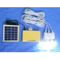 China 10W solar home power system solar energy with 3W LED bulbs  yellow solar home system with lithium battery on sale