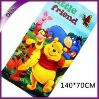Quality Pure Cotton Velour Reactive Printed Bath Towel Kids Beach Towel With Bear Pattern for sale