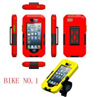 Best Red ABS Bike Mobile Phone Holder IPX8 Waterproof Case for iPhone 4 / 4S / 5 / 5S / 5C wholesale