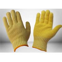 Quality High Stretch Knitted PVC Dotted Gloves , Cut Resistant Work Gloves Two Sides Slip Proof for sale