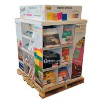 Best Portable Large Corrugated Cardboard Pallet Display Shelf For Stationery wholesale