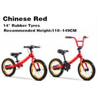 "Quality 14""  High Quality  High Carbon Steel 3in1 Kids Balance Bike With Pedal Children Bicycle for 2-12 Years Red for sale"