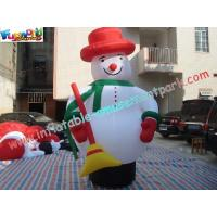 Best Customized Outside Inflatable Christmas Decorations PVC 5M Snowman wholesale