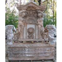 Quality Garden stone wall fountain carving statue water fountain ,stone carving supplier for sale
