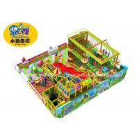 Buy cheap Rectangle Indoor Ropes Course Adventure Playground With Slide Customized from wholesalers