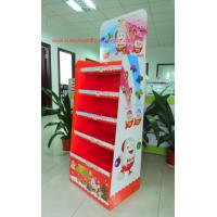 Best Chocolate Cardboard Floor Display with steel bar under each shelf,bespoke Floor Display rack wholesale