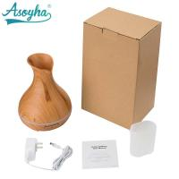 Quality 300ml PP Material Atomizer Aroma Air Humidifier Wood Grain For Office Home for sale