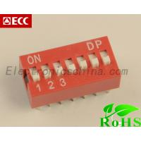 Best China Electronic Component Red 2.54mm Pitch 7-Bit 7 Positions Ways Slide Type DIP Switch wholesale