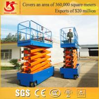 Quality 4 wheels battery power mobile work platform with Factory price for sale