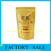 Quality Resealable Food Grade Stand Up Kraft Pouches , Paper Pouch Packaging For Tea for sale