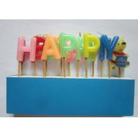 Fancy Alphabet Letter Birthday Candles Flameless Non - Toxic 2.8cm Height