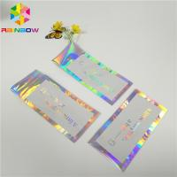China Hologram Envelop Foil Bag Aluminium Foil Pouch Self Adhesive Three Sided Seal on sale