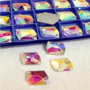 China alien holes 16*21mm Sew on Rhinestone for Dresses, Crystal Sew on Stones on sale