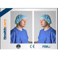 Quality PP Or SMS Disposable Bouffant Surgical Caps , Disposable Nurse CapLightweight for sale